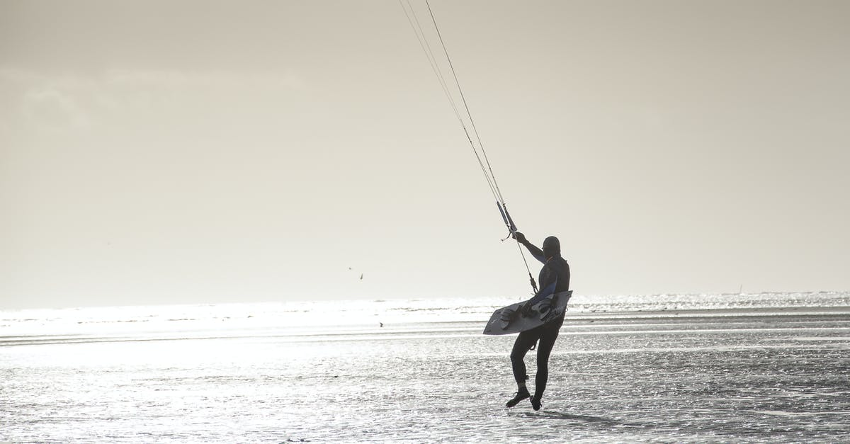 A man holding a kite while standing on a beach
